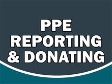 PPE reporting and donating